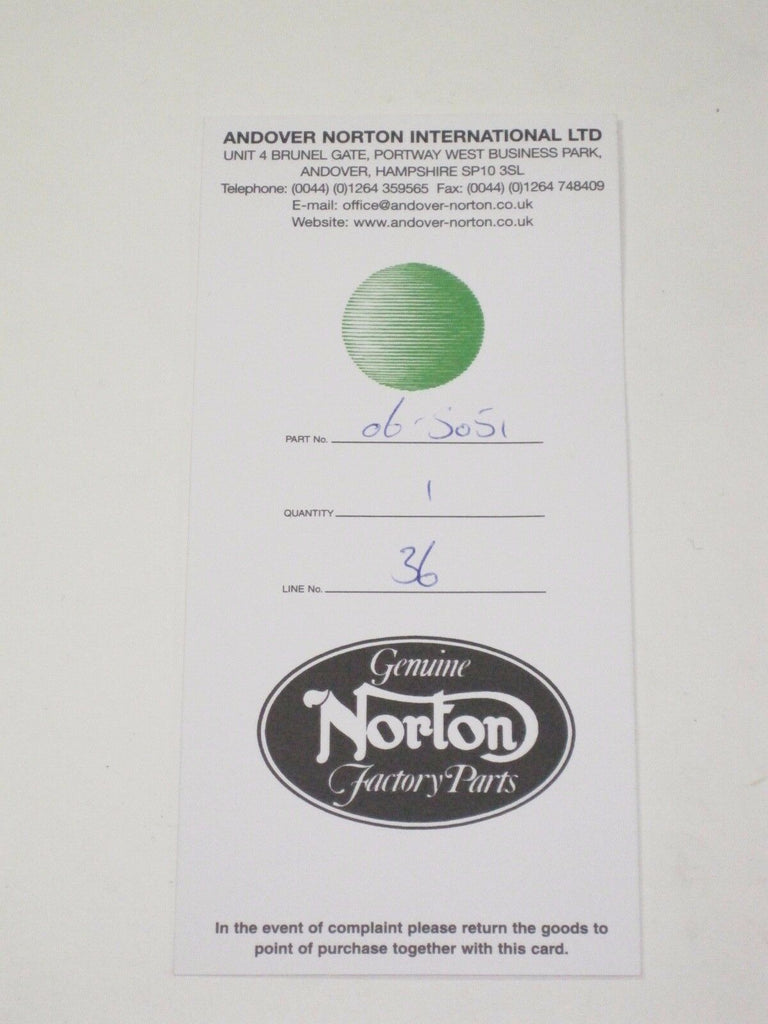 06-5051 Norton 850 head gasket New EYELETTED UK Made *