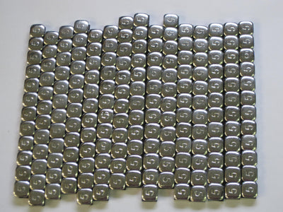 180 pcs chrome Wheel weights 5 gram adhesive steel weight set silver motorcycle balance