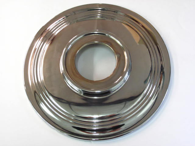 "37-3443 Triumph T100C hub cap 7"" wheel cover BSA B44 Chrome made in UK"