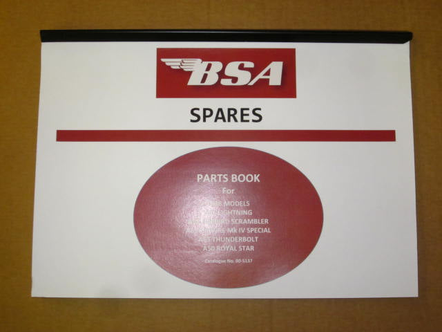 BSA parts book 1968 A65 A50 lighting firebird spitfire thunderbolt royal star
