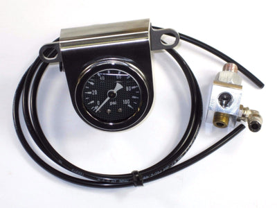 Triumph oil pressure gauge center handlebar mount Stainless Steel T140 T150 T160