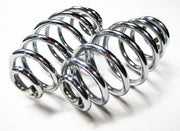 "4"" Chrome Seat Spring Springs Set Triumph Norton BSA Tapered Motorcycle"