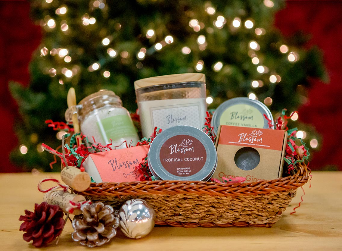 Deck the Halls with Blossom Gift Baskets