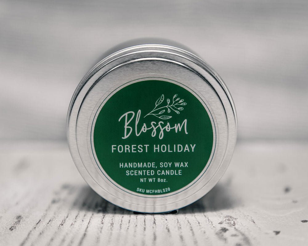 Forest Holiday 8 oz. Soy Wax Candle – Seasonal