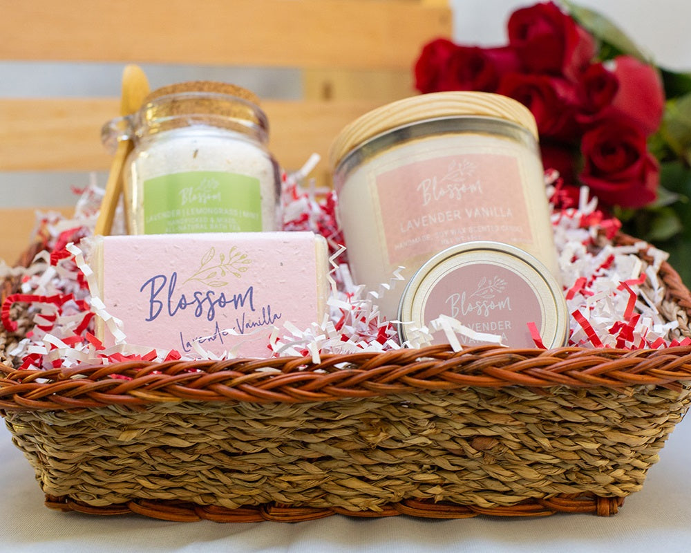4-Piece: Package B Valentine's Basket