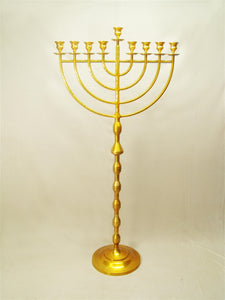"63"" Extra Large Chanukah Menorah for Synagogue - Brass"
