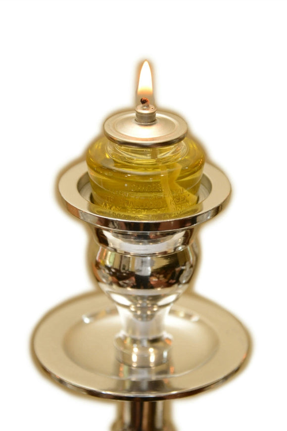Pirsum Olive Paraffin Oil Lamps 7 hour 8 pack