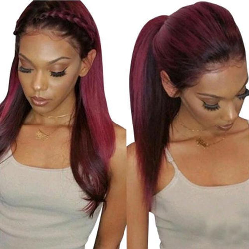 Drenvogue lace predecessor wig with baby hair straight Brazilian Remy hair wig pre-extraction