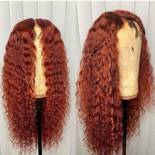 Colorful Remy Wig Full Brazilian Water Wave Wigs With Natural Hair Line