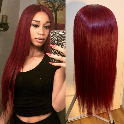 Brazilian Deep Part Lace Front Human Hair Wigs Straight hair Lady Wig