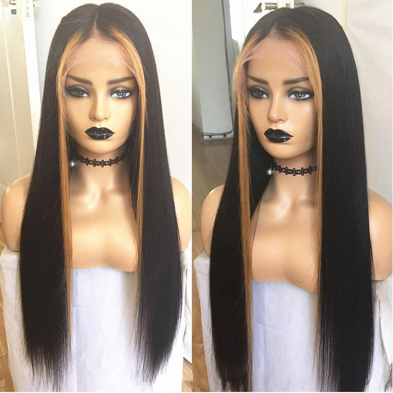 360 Lace Front Invisible Knot Wig Bleached Knots Pre Plucked Lace Front Human Hair Wig Peruvian