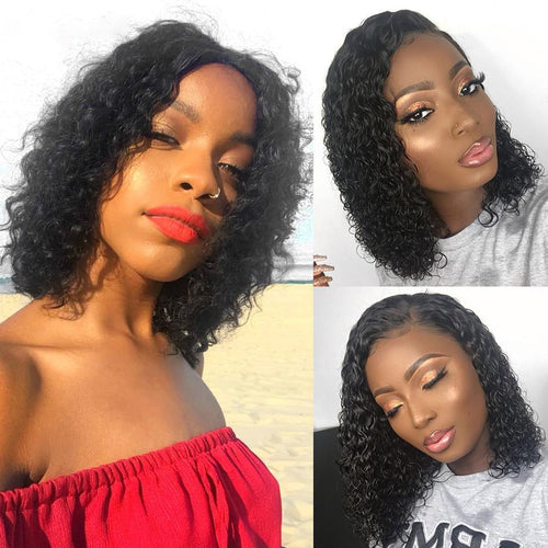 Brazilian Bob 360 Lace Short curly hair Wigs Lady Wig