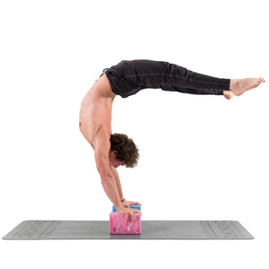 Base yoga Yoga Block - 1 or 2 pc set - Unique Strong/Firm/Lightweight EVA foam support block/brick