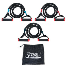 Protone® professional - Thick 3 piece Resistance tube set with safety sleeving