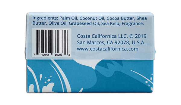 New Simply Clean 6.4 oz Moisturizing Vegan Bar Soap - Costa Californica