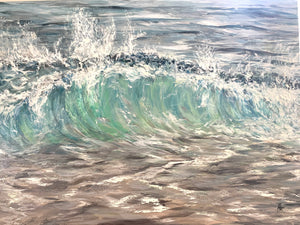 "Wild wave oil painting 30"" x 40"""