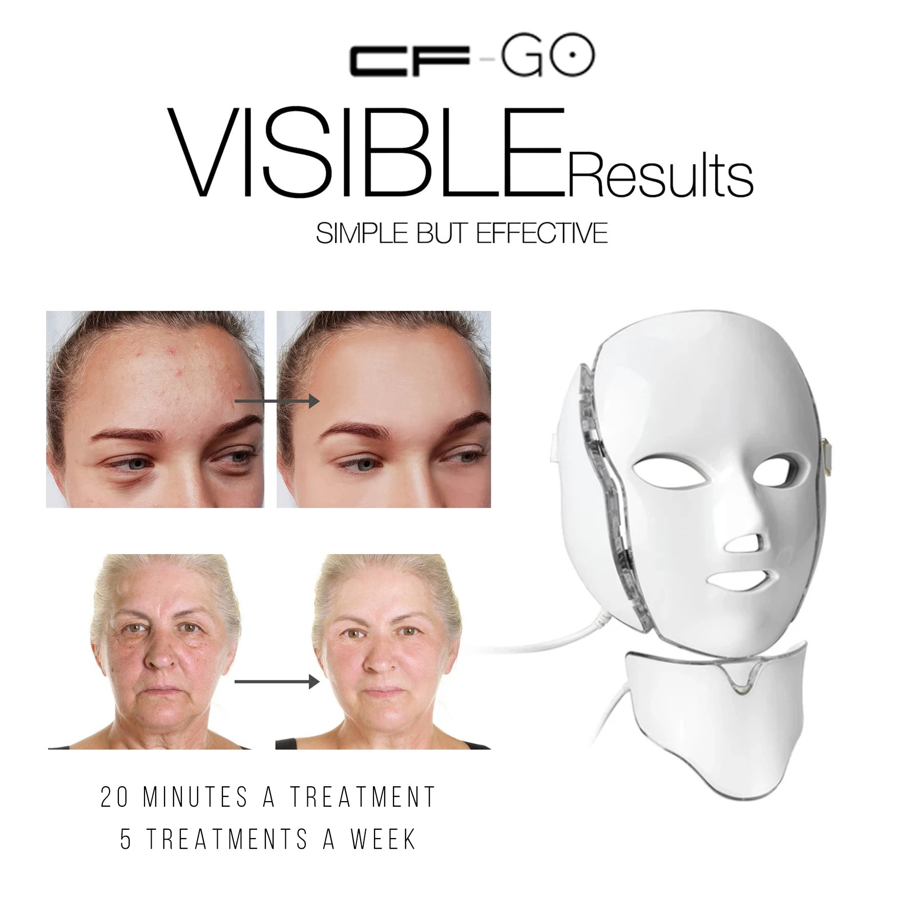 Confident Face Go Led Light Therapy Mask Pro
