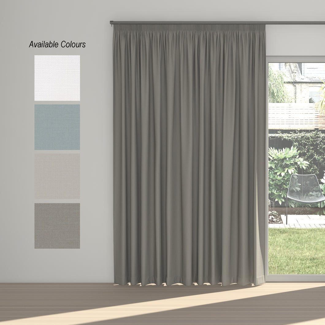 Dusk Taped Curtain (100% Blockout)