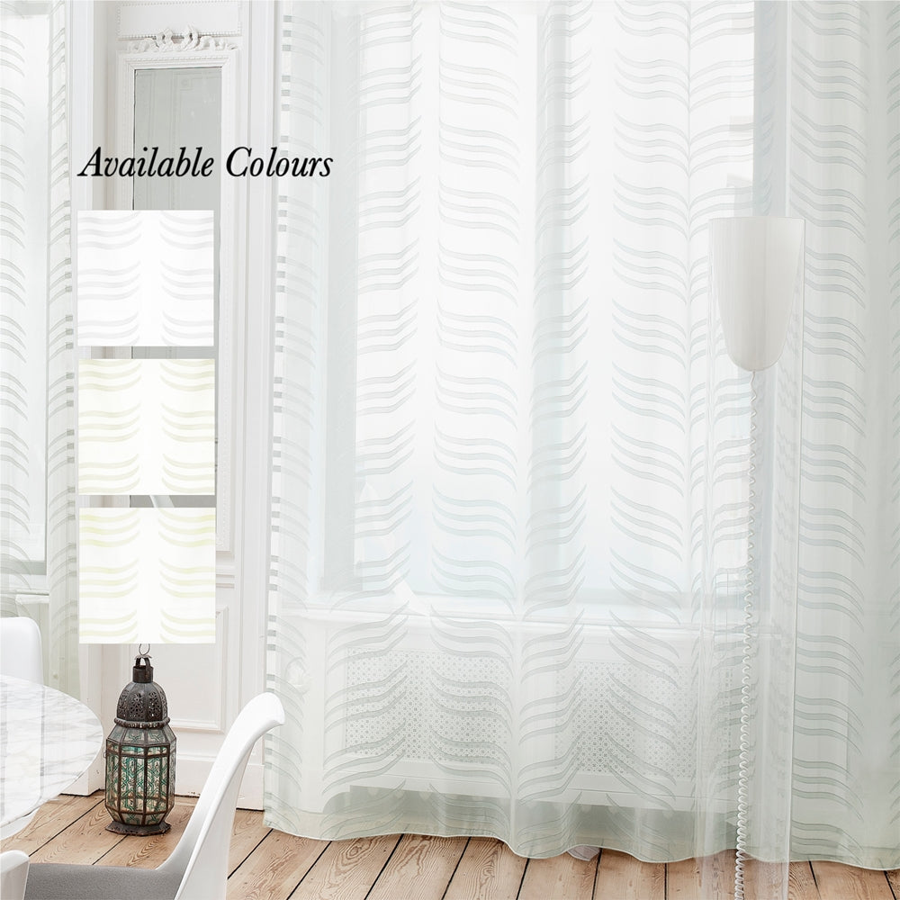 Ether Taped Curtain (Unlined sheer)
