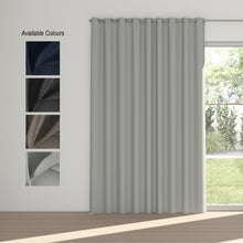 Load image into Gallery viewer, Midnight Eyelet Curtain (100% Blockout)
