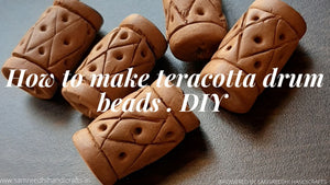 How to make Terracotta drum beads !! DIY !! Terracotta Beads !!
