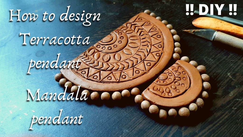 How to make Terracotta Jewellery | Mandala art pedant for beginners 2020