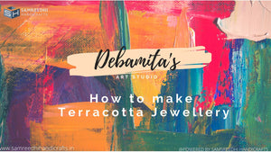 How to make terracotta jewellery ? Step by step guide for beginners Home made process