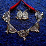 Oxidised Jewellery Choker Necklace Set