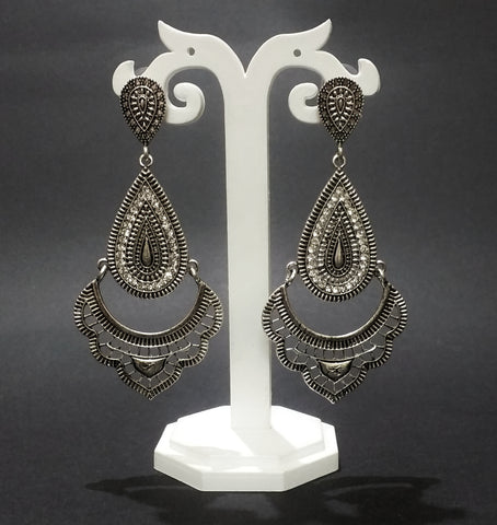 Oxidised Jewellery earring with Stone for girls and women