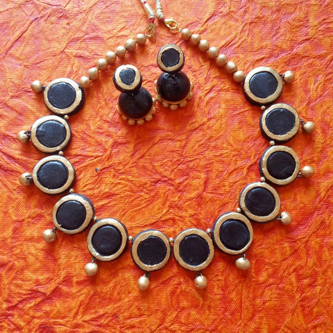 Terracotta Jewellery coin choker set
