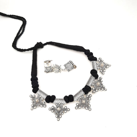 Buy Online Oxidised jewellery black choker necklace - Samreedhi Handicrafts