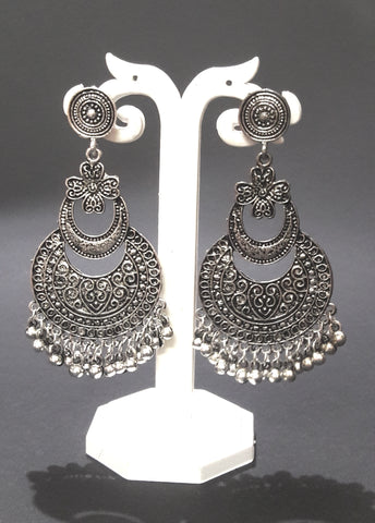 Oxidised German Silver Dangle Drop Earrings for Women and Girls her