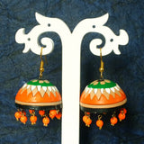 Big Terracotta Jhumki Earrings - Samreedhi Handicrafts