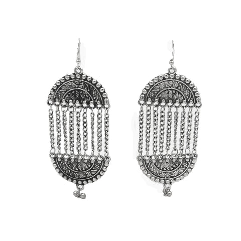 Buy Online Oxidised Jewellery Earrings Long for women girls - Samreedhi Handicrafts