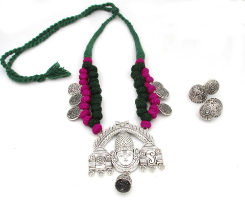 Buy Online Oxidised Jewellery Set with Balaji Pendant 10- Samreedhi Handicrafts