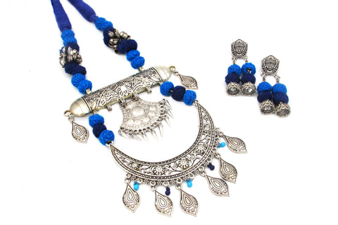 Buy Online Oxidised Jewellery Set with unique design pendant - Samreedhi Handicrafts