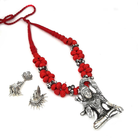 Buy Online Oxidised jewellery set red Lord Shiva Pendant - Samreedhi Handicrafts