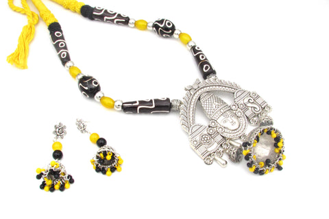 Buy Online Oxidised jewellery set with Balaji Pendant 1- Samreedhi Handicrafts
