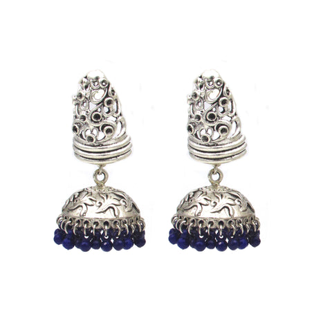 Buy OnlineOxidised unique design Jhumka Jhumki- Samreedhi Handicrafts