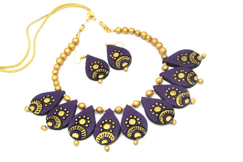 Buy Online Terracotta Choker necklace set for women - Samreedhi Handicrafts