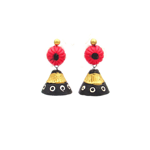 Buy Online Terracotta Jewellery conical Jhumka Jhumki - Samreedhi Handicrafts