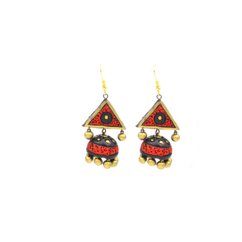 Buy Online Terracotta Jhumka hanging jhumki earrings - Samreedhi Handicrafts