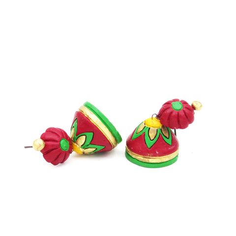 Buy Online Terracotta floral Jhumki Jhumka for women 1- Samreedhi Handicrafts