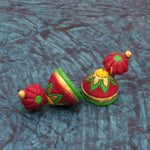 Buy Online Terracotta floral Jhumki Jhumka for women 2- Samreedhi Handicrafts
