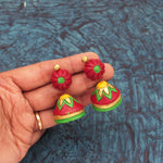 Buy Online Terracotta floral Jhumki Jhumka for women 4 - Samreedhi Handicrafts
