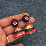 Buy Online Terracotta floral base conical jhumka jhumki 2- Samreedhi Handicrafts