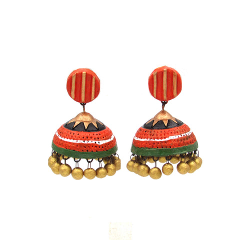 Buy Online Terracotta grand grace full jhumka jhumki - Samreedhi Handicrafts