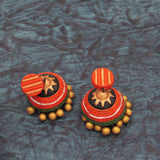 Buy Online Terracotta grand grace full jhumka jhumki 2- Samreedhi Handicrafts