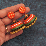 Buy Online Terracotta grand grace full jhumka jhumki 4- Samreedhi Handicrafts