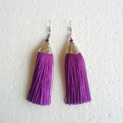 Buy Fashion Jewellery Stylish Thread Tassel Fancy Party Wear Long Earrings for Women & Girls-Samreedhi Handicrafts